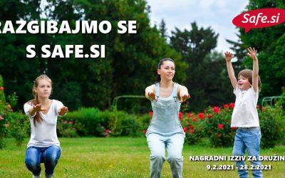 Razgibajmo se s Safe.si – nagradni izziv za družine